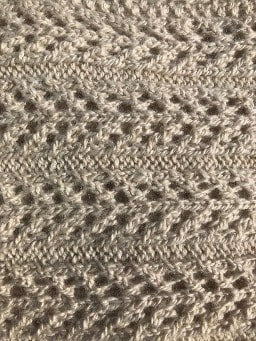 Finely knitted birch tree design scarf in pure alpaca wool - detail