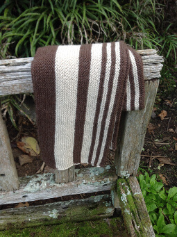 Striped pattern, two colour scarf