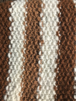 Alpaca scarf with three lengthwise stripes-closeup